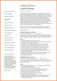 Resume For Logistics Executive 12 Warehouse And Logistics Cv Budget Template Letter