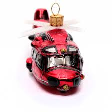 blown glass christmas ornament red helicopter online sales on