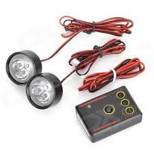 led strobe lights for motorcycles 3w 110lm 3 led red blue strobe light motorcycle drive brake l