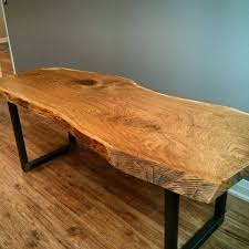 White Oak Bark Powder Live Edge White Oak Desk By Barnboardstore Com This Large Slab