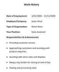 Resume Referee Sample by Resume Employment History Examples Resume Formats With Examples
