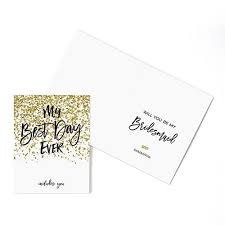 will you be my bridesmaid invitation will you be my bridesmaid gold glitter card candy cake weddings
