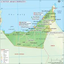 Map Of The United States With Landforms by Uae Map Map Of United Arab Emirates