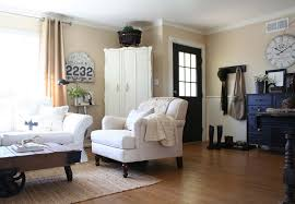 Living Room Without Rug Chic Country Decor Living Room Traditional With Old Sign Rag Rug