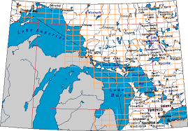 canadian map with great lakes nts 041 free great lakes topo maps