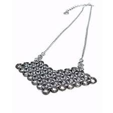 traditional 10th anniversary gifts steel geometric necklace 11th anniversary gift for steel