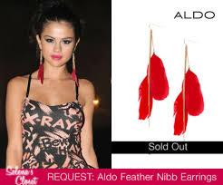 one feather earring selena gomez s closet