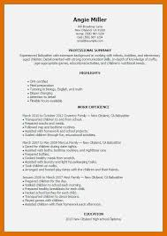 babysitting resume template 7 8 resume sowtemplate