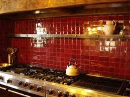 red glass tile kitchen backsplash red gl mosaic tile backsplash