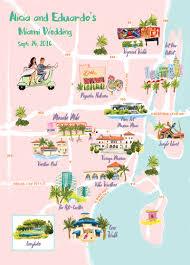 Map Wedding Invitations Alicia And Eduardo Jolly Edition Illustration And Stationery