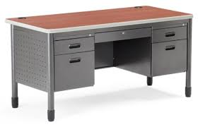 Metal Office Desk Ofm Mesa Series Pedestal Metal Office Desk 66360