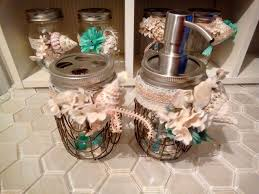 mason jar beach style soap dispenser and toothbrush holder set ebay