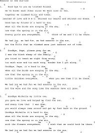 kingston trio song seasons in the sun lyrics and chords