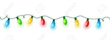 colorful glowing christmas lights border frame colorful holiday