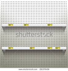 Peg Board Shelves by Pegboard Display Stock Images Royalty Free Images U0026 Vectors
