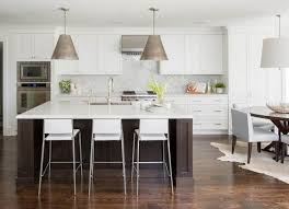 center island dining table contemporary white kitchen with espresso island transitional kitchen