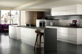 Pictures Of Modern Kitchen Cabinets Kitchen High Gloss Modern Kitchen With High Cabinet To Ceiling