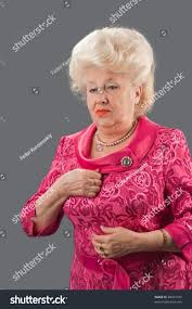 elderly woman clothes elderly woman shows fashionable clothes stock photo 48501745