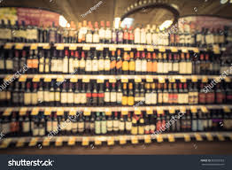 Liquor Display Shelves by Blurred Image Wine Shelves Price Tags Stock Photo 550227523