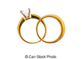 intertwined wedding rings two wedding rings on the pillow two golden wedding rings on