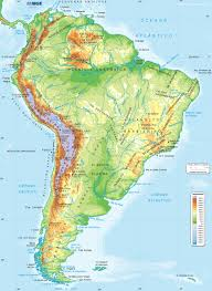 Map Of Central America And South America Physical Map Of Central America Eparhia Me
