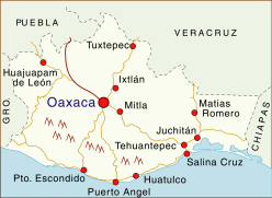 map of oaxaca mexico hotels in the state of oaxaca mexico living
