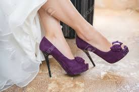wedding shoes purple purple wedding shoes on the of the stock photo picture