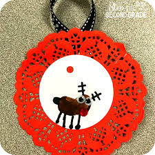 reindeer ornament step into 2nd grade