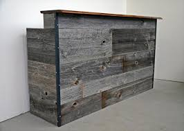 Wood Reception Desk by Recycled Pallet Reception Desk Pallet Furniture Plans