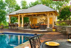 20 Outdoor Kitchen Design Ideas And Pictures by Sweet Looking Backyard Designs With Pool And Outdoor Kitchen 20