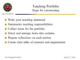 the teaching portfolio ppt video online download