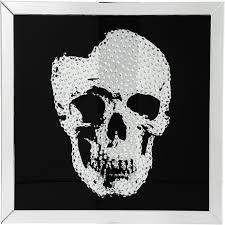 kare design shop outlet picture frame mirror skull 100x100cm kare design