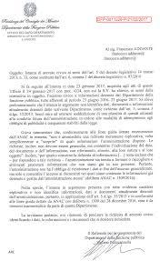 presidenza consiglio dei ministri pec pec inviata tramite chiedi dirittodisapere it all dipartimento