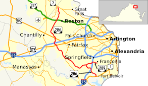 fairfax county map fairfax county parkway