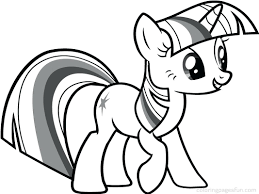 pony coloring pages princess twilight sparkle alicorn