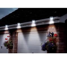 buy powertek black solar gutter lights set of 2 at argos co uk