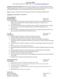 Job Objective Examples For Resume by Job Resume Sample Social Worker Resume Example Social Worker