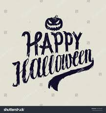 happy halloween scary calligraphy vector stock vector 327243299
