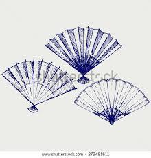 folding fan sketch stock images royalty free images u0026 vectors