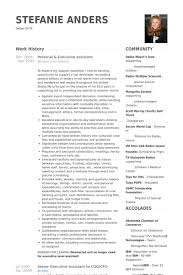 Personal Resume Examples by Executive Assistant Resume Samples Visualcv Resume Samples Database