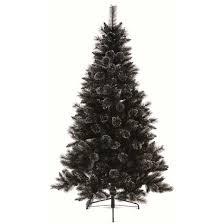 7ft black glitter artificial tree
