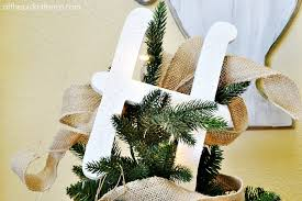 monogram tree topper monogram themed christmas tree with balsam hill at the picket fence