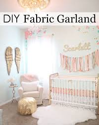Diy Nursery Decor This Is The Easiest Diy Fabric Garland Fabric Garland