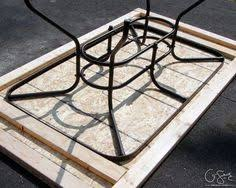 Replacement Glass Table Tops For Patio Furniture How To Repair A Patio Table With Tile When The Glass Is Broken Out