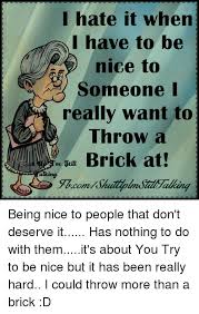 I Hate It When Memes - i hate it when i have to be nice to someone i really want to throw a