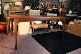 id danish modern teak hidden leaf extension dining table