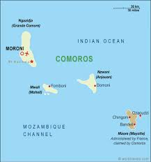 map comoros comoros map comoros travel maps from word travels