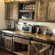 rustic barn wood kitchen cabinets kitchen cabinetry and shelves american reclaimed
