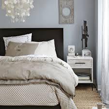 West Elm Chevron Duvet Bedroom Design With West Elm Organic Bedding Feat Dark Brown