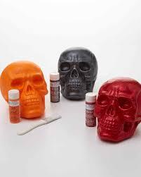 pop art inspired painted skull decorations martha stewart
